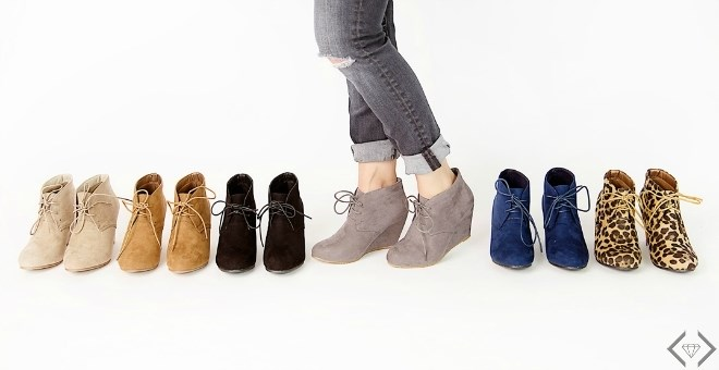 Wedge Ankle Boot / 5.5-10 / 6 Colors