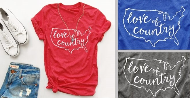 Love of Country Tee | XS - XL