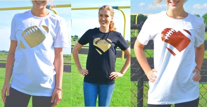 Football Relaxed Tee | Copper or Gold