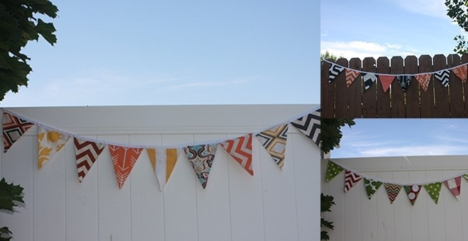 Double Sided Holiday Fabric Bunting Banner