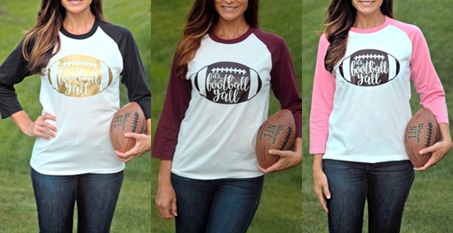 Football Raglans | New! 10 Colors | S-2X