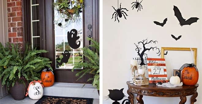 Large Decorative Halloween Silhouettes Jane