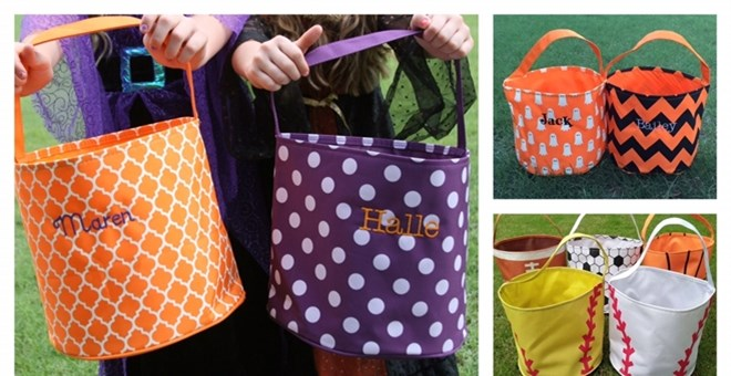 Personalized Trick or Treat Buckets | 23 Designs