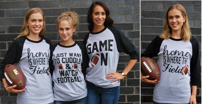 Favorite Football Raglan | 3 Designs