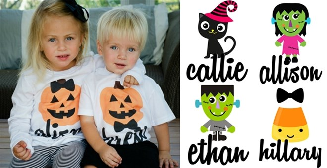 Personalized Halloween Iron-Ons | 11 Designs!