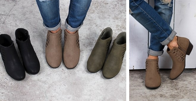 Cutout Booties | 3 Colors