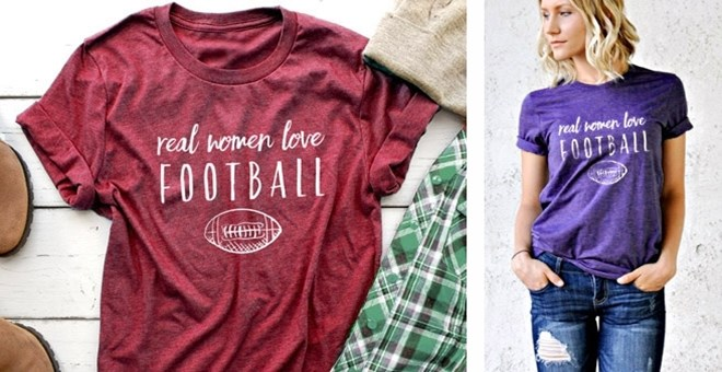 """Real Women Love Football"" Tee"
