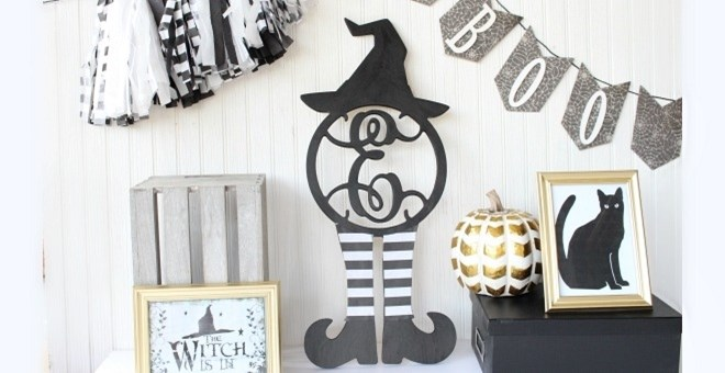 Witchy Halloween Monogram