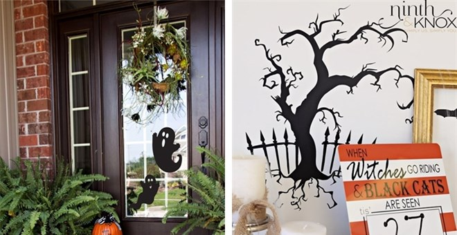 Large Decorative Halloween Silhouettes
