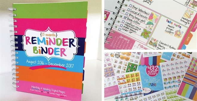 2017 Reminder Binder® Planner | Bonus 432 Stickers