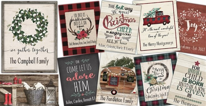 Rustic Name Holiday & Home Prints