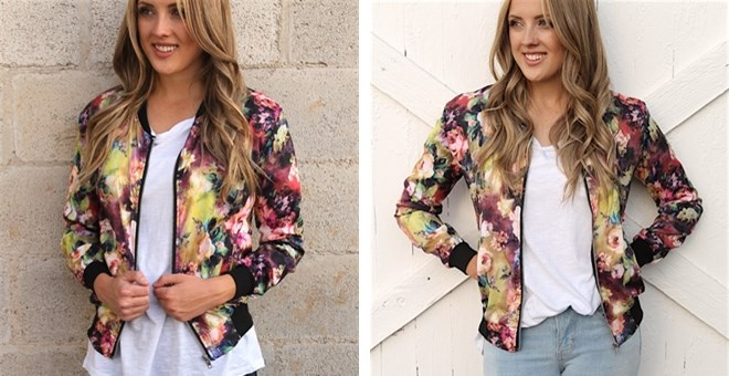 Light Weight Floral Bomber Jackets!
