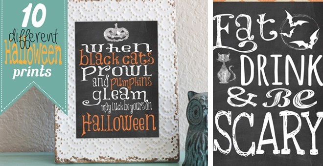 Halloween Digital Art Printables