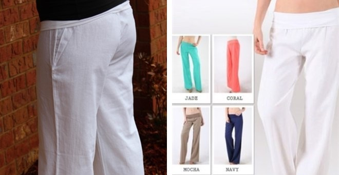 Must Have Linen Pants with Fold Over Waist! ~ Khaki, White, Mocha ...