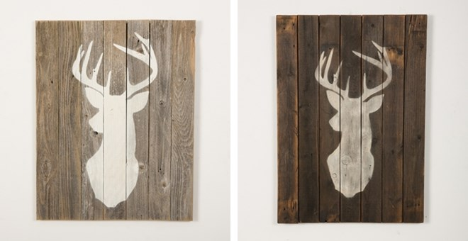 Stag on Reclaimed Wood