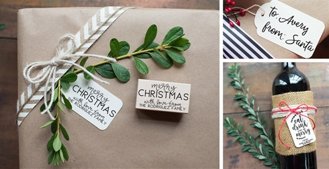 Personalized Christmas Stamp & Tag Set