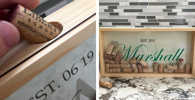 Large Personalized Wine Cork Keepers