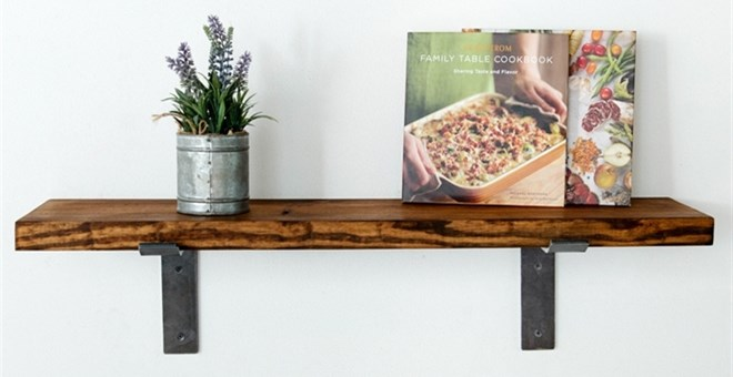 3 foot industrial wall shelf jane for Decorating 12 foot walls