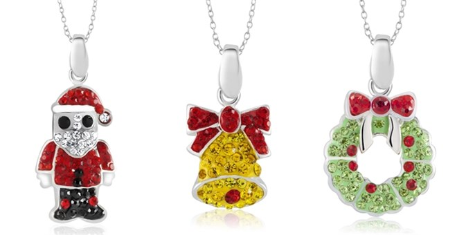Crystal Christmas Necklace | Free Shipping