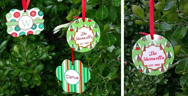 Personalized Picture Christmas Ornaments