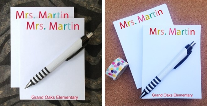 Personalized Colorful Notepads | Set of 2!