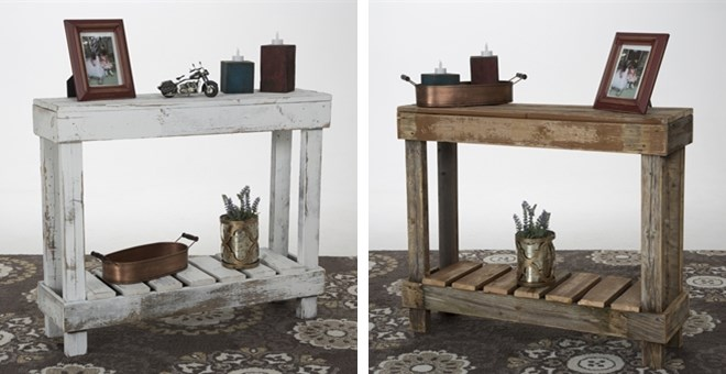 Rustic Reclaimed Sofa Table | Jane