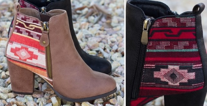 Aztec Ankle Bootie | 2 Colors | Free Shipping