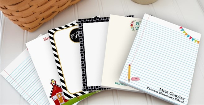 Personalized Teacher Notepads / 50 Sheets / Gift Packaged