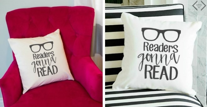 """""""Readers Gonna Read"""" Canvas Pillow Cover! 