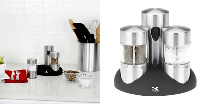 rechargeable stainless steel salt and pepper grinder jane