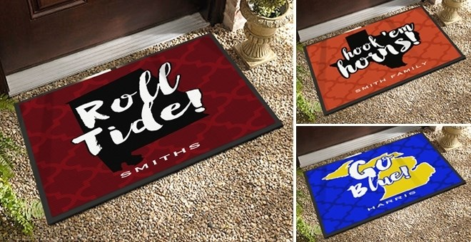 State Spirit Personalized Door Mats 20 Designs Jane