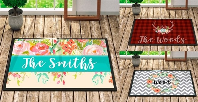 Personalized Door Mats New Fall Amp Holiday Designs Jane
