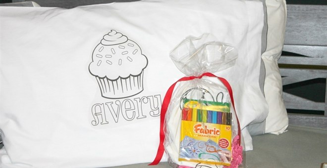 Personalized Color-on Pillowcases for Kids - 12 Designs! | Jane