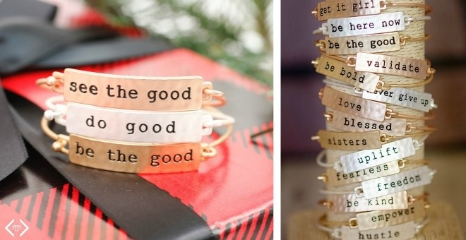 Stamped Bar Stacking Bracelets | 34 Phrases!