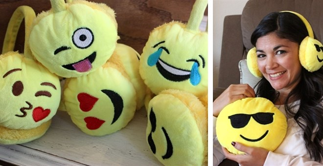 Fun Emoji Earmuffs | Great Gift