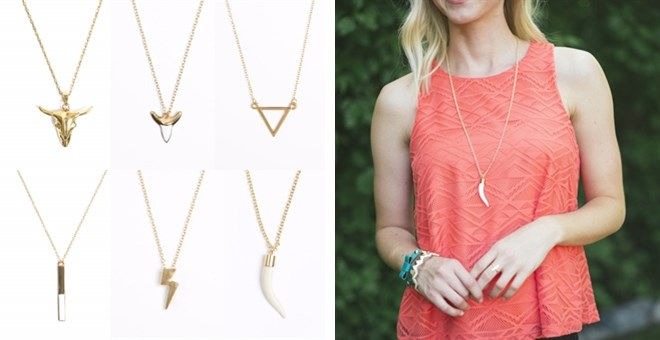 Pendant Layering Necklaces - 6 styles!