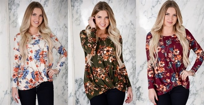 Floral Knotted Top | 4 Colors