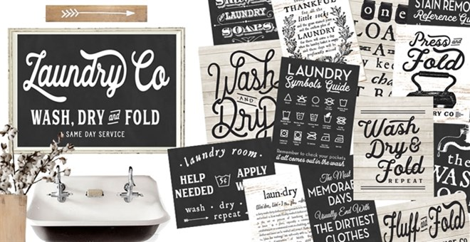 Large Farmhouse Laundry Decor / 3 Options