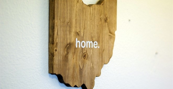 Wooden Home State Cutout Jane