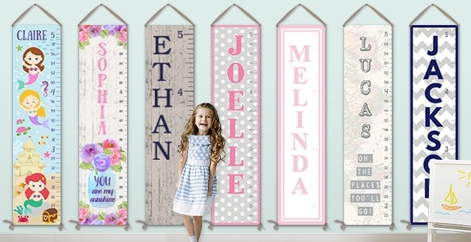 Personalized Canvas Growth Charts | 59 Designs!