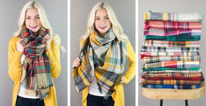 Plaid Blanket Scarves | 21 Patterns!