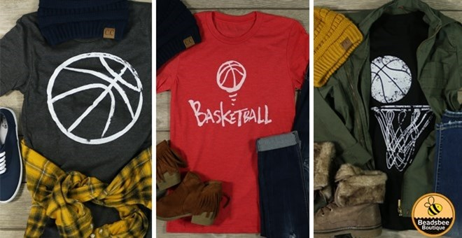 Basketball Tees | 3 Styles | 6 Colors | XS-XL