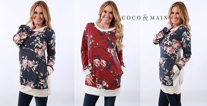 Luxe Floral Pocket Tunic