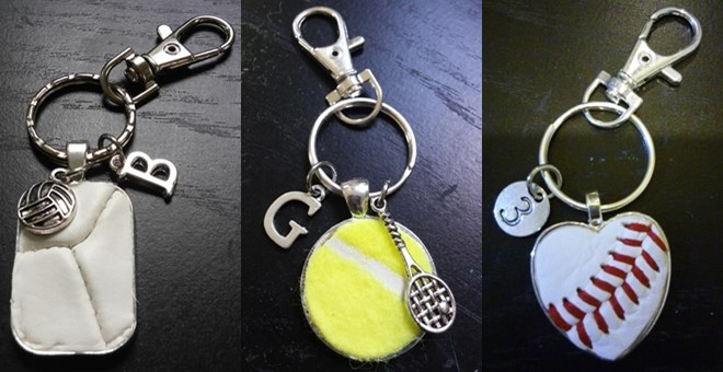 Personalized Ball Key Chains