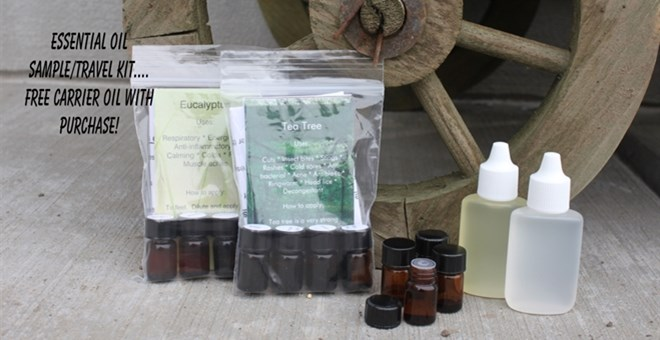 Essential Oil sample/travel Kit- FREE carrier Oil with purchase ...