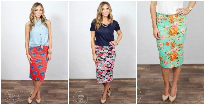 Floral Pencil Skirts!