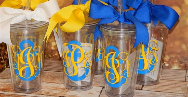 Anchor/Nautical Theme Acrylic Tumbler 16oz BPA Free