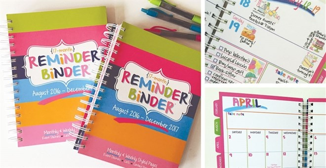 Set of 2 / 2017 Reminder Binder Planners
