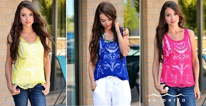 Perfect Summer Lace Tank or Undershirt