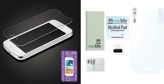 OWLLIFE Tempered-Glass Screen Protector for iPhones & Samsung Galaxys